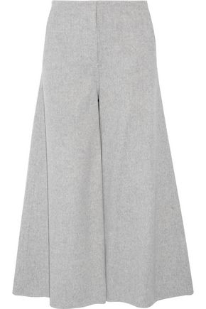 THEORY Henriet cropped brushed wool and cashmere-blend wide-leg pants