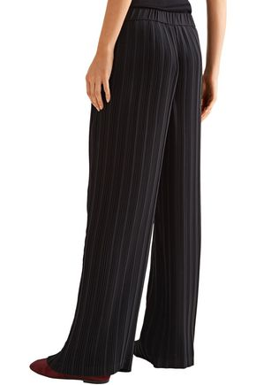 THEORY Plissé-crepe wide-leg pants