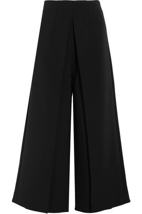 SOLACE LONDON Johnson pleated crepe wide-leg pants