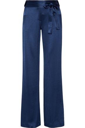 HALSTON HERITAGE Hammered-satin wide-leg pants