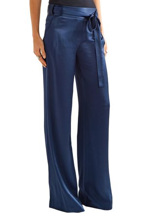 HALSTON HERITAGE Hammered-satin wide-leg pants