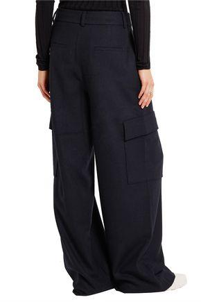 TIBI Twill wide-leg pants