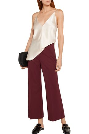 ROSETTA GETTY Cropped wool-blend twill flared pants