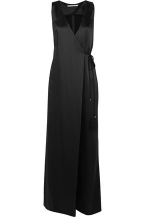 ROSETTA GETTY Satin wrap jumpsuit