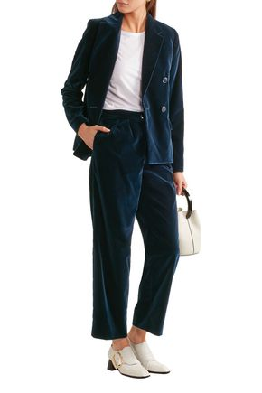 VANESSA SEWARD Acronyme cropped velvet straight-leg pants