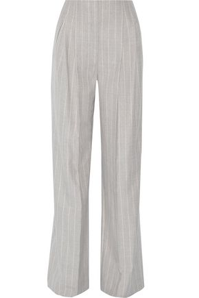 PROTAGONIST Pinstriped wool wide-leg pants