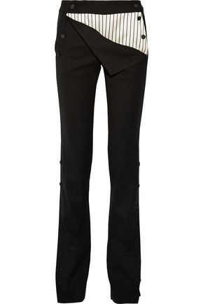 MONSE Stretch wool-blend twill straight-leg pants