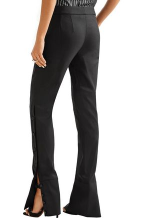 MONSE Embellished stretch wool-blend twill flared pants