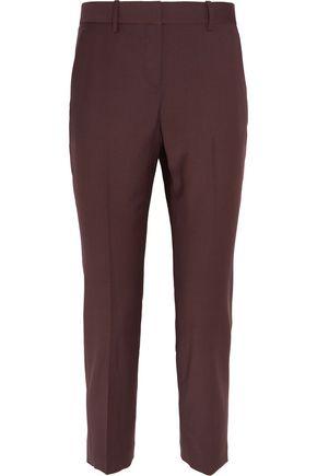 THEORY Treeca cropped wool-blend slim-leg pants