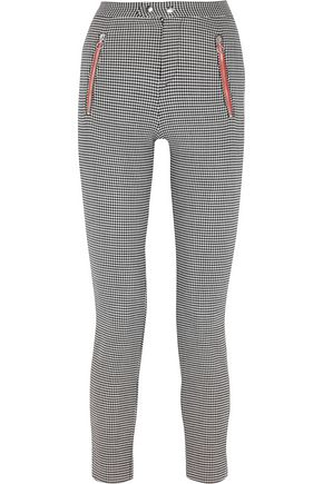 ISABEL MARANT Checked wool-blend slim-leg pants