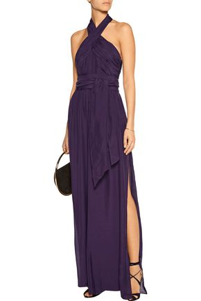 RACHEL ZOE Niels draped silk jumpsuit
