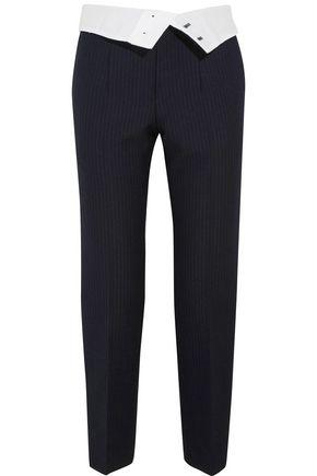 JOSEPH Yoyo pinstriped wool-blend crepe tapered pants