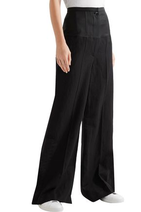 JOSEPH Brax linen blend-paneled wool wide-leg pants
