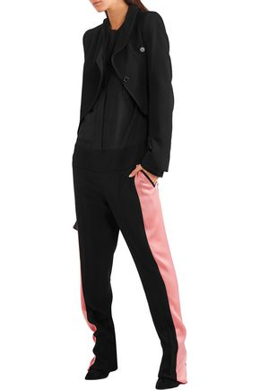 HAIDER ACKERMANN Crepe de chine-paneled silk jumpsuit