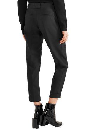 CARVEN Cropped piqué skinny pants