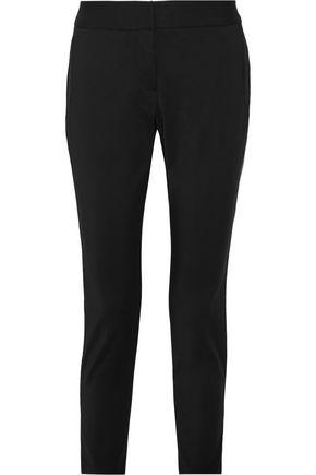 L'AGENCE Sam satin-trimmed crepe skinny pants