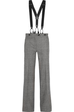 RONALD VAN DER KEMP Prince of Wales checked wool flared pants