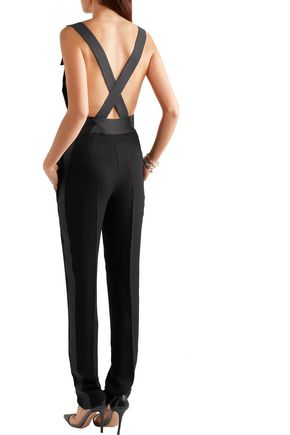 RONALD VAN DER KEMP Smoking silk-blend jumpsuit
