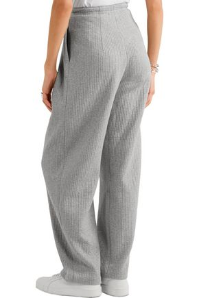 VIKA GAZINSKAYA Pleated quilted stretch-cotton tapered pants