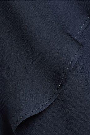 ELIZABETH AND JAMES Baldwin silk-chiffon tiered  crepe halterneck jumpsuit
