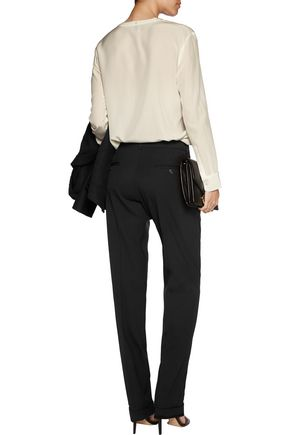 MICHAEL KORS COLLECTION Pleated wool-blend tapered pants