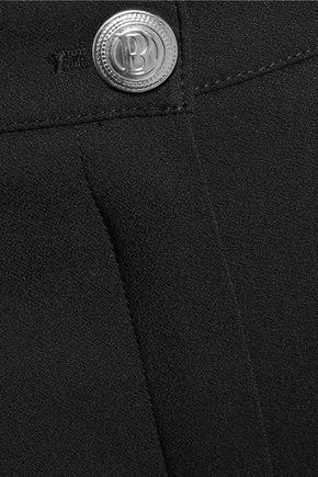 PIERRE BALMAIN Cropped crepe slim-leg pants