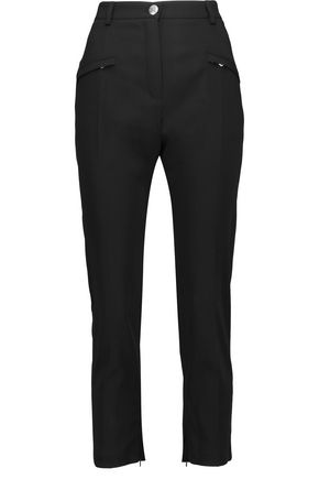 PIERRE BALMAIN Cropped crepe slim-leg pants