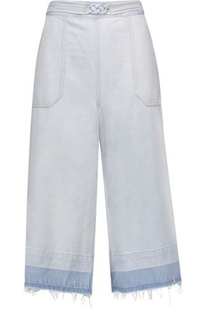 SEA Distressed denim culottes