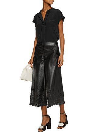 OPENING CEREMONY Laser-cut faux leather culottes