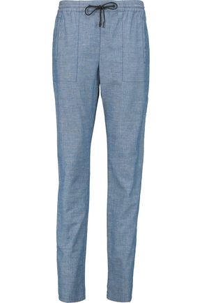 PROENZA SCHOULER Cotton-chambray tapered pants