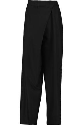 JOSEPH Wool-blend crepe wide-leg pants