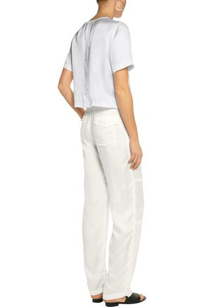 T by ALEXANDER WANG Twill wide-leg pants