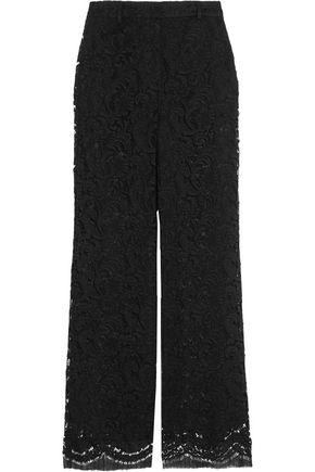 ADAM LIPPES Guipure lace wide-leg pants