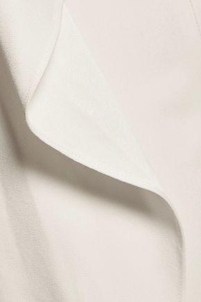 ADAM LIPPES Strapless draped crepe jumpsuit
