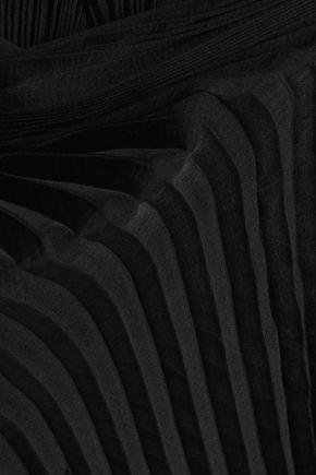BALMAIN Plissé silk-chiffon jumpsuit