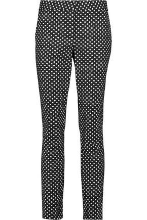 DIANE VON FURSTENBERG Printed twill slim-leg pants