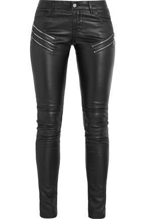 SAINT LAURENT Leather skinny pants