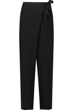 DIANE VON FURSTENBERG Orly wrap-effect tapered crepe pants