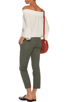 DIANE VON FURSTENBERG Gennifer stretch-cotton cloqué slim-leg pants
