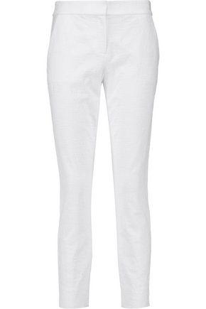 DIANE VON FURSTENBERG Gennifer stretch-cotton cloqué slim-leg pants