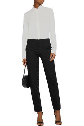 NINA RICCI Broderie anglaise cotton slim-leg pants