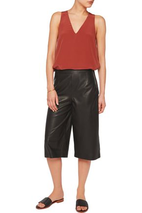IRIS AND INK Leather culottes
