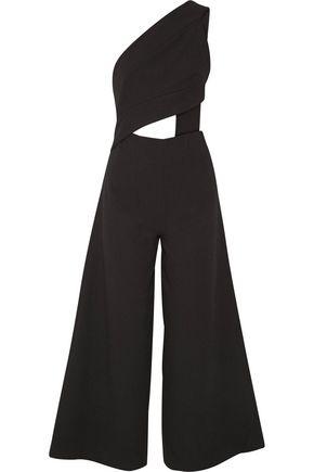 SOLACE LONDON Addison cutout crepe jumpsuit
