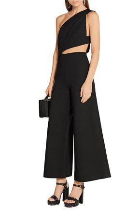 SOLACE LONDON Addison cutout crepe jumpsuit