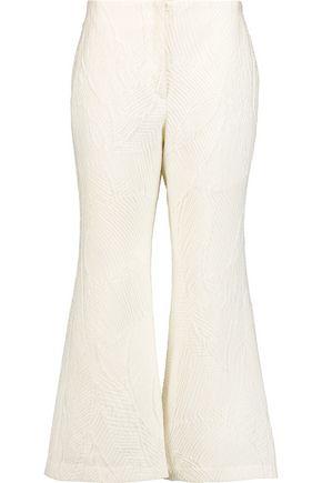 MERCHANT ARCHIVE Cropped matelassé bootcut pants