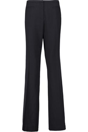 TORY BURCH Wool-crepe bootcut pants