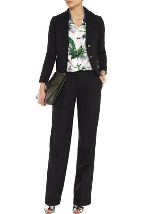 TORY BURCH Dasha wool-blend straight-leg pants