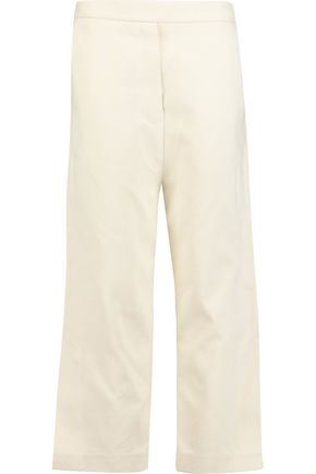 ELLERY Yoko cropped cotton-blend twill wide-leg pants