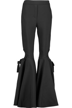 •ELLERY• Fantasy cutout satin flared pants