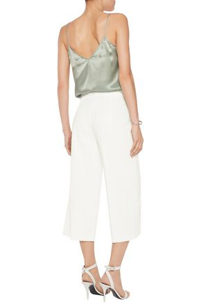 IRIS AND INK Bonded satin culottes